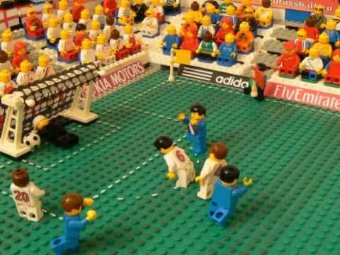 USA vs England  in Lego