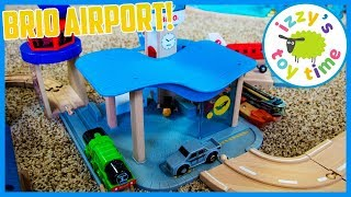BRIO AIRPORT AND CONTROL TOWER With Thomas and Friends! Fun Toy Trains for Kids!