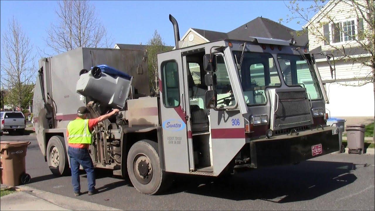 Classic 1980's Lodal EVO MAG-20 Garbage Truck - YouTube