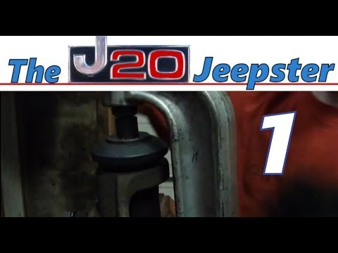 Jeepster pressing out ball joints on a 90