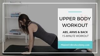 Upper body workout for women | Abs, arms, back | 15-minute workout