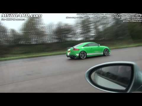 Audi TT RS 450 HP vs BMW M5 Supersprint