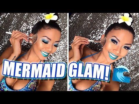 MERMAID GLAM TRANSFORMATION! | Liane V