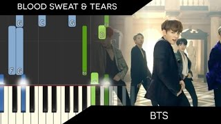 BTS 방탄소년단 - Blood Sweat & Tears 피 땀 눈물 - Piano Tutorial Synthesia