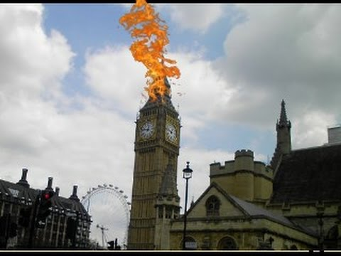 Big Ben on Fire
