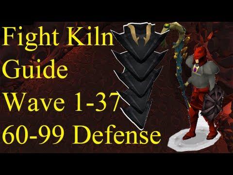 Fight Kiln Waves 1-37 Guide 60-99 Defense in Welfare Gear Runescape No Overload