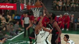 Milwaukee Bucks vs Toronto Raptors – Game 1 2019 NBA Eastern Conference Finals NBA 2K19 5/15/19