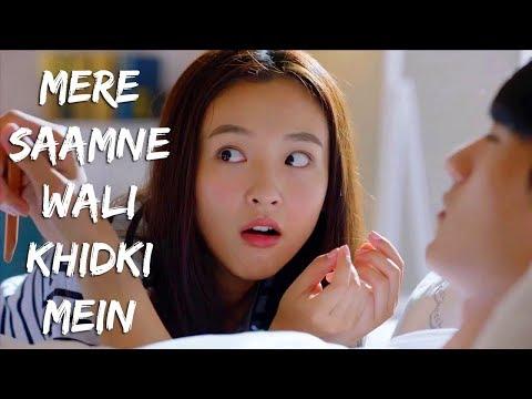 Mere Saamne Wali Khidki Mein || Padosan || Funny Video || Korean Drama Mix