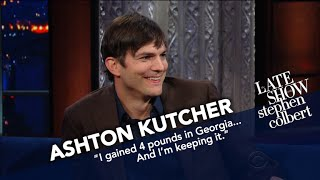 Ashton Kutcher Examines President Trump