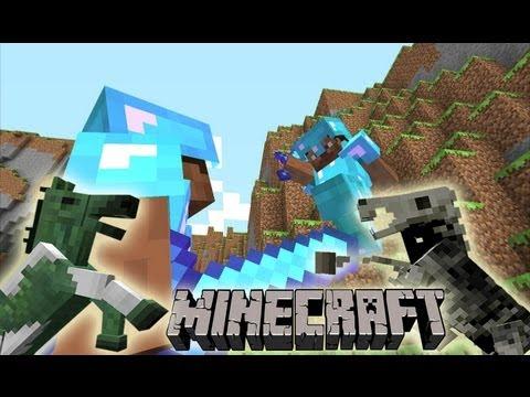 MineCraft 1.6 Server PVP Horse Battle!