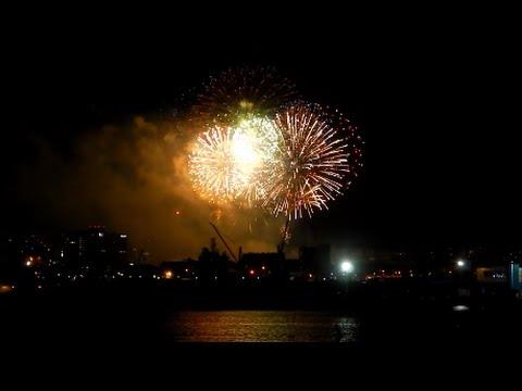 Fireworks Day of city 2014 (Murmansk) - Фейерверк День города (Мурманск)