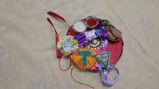 Thali decoration idea for Raksha Bandhan