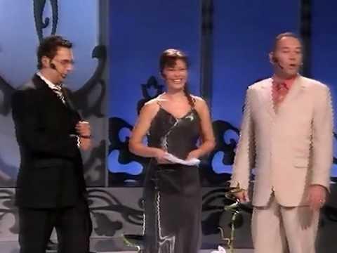 Midheta najavljuje Mirka i Dejana @ Miss BiH 2004