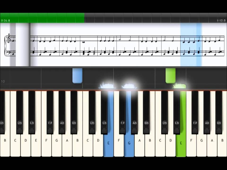 Bj rnen sover piano lektion youtube for Strumento online gratuito piano piano