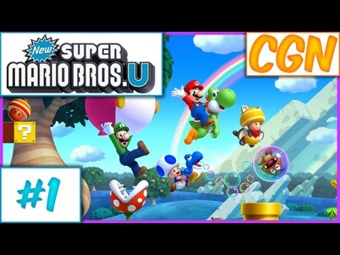 New Super Mario Bros. U - Ep1 w/ The Creatures (CGN)