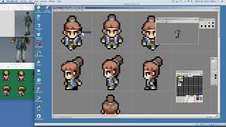 PIXEL ART TIMELAPSE - Chibi character animation in 4 directions