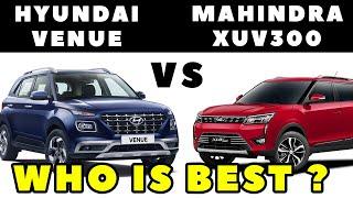 Hyundai Venue vs Mahindra XUV300 #HyundaiVenue #MahindraXUV300 #VenueVsXUV300
