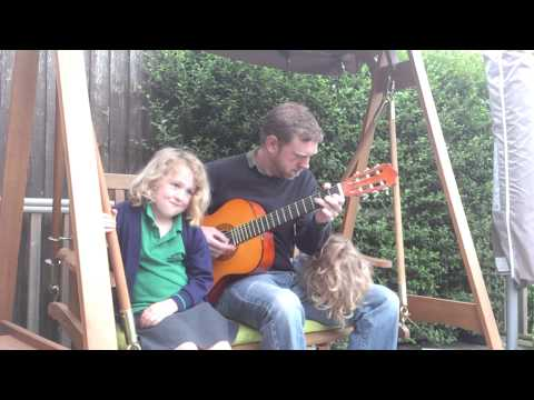 Daddy plays guitar