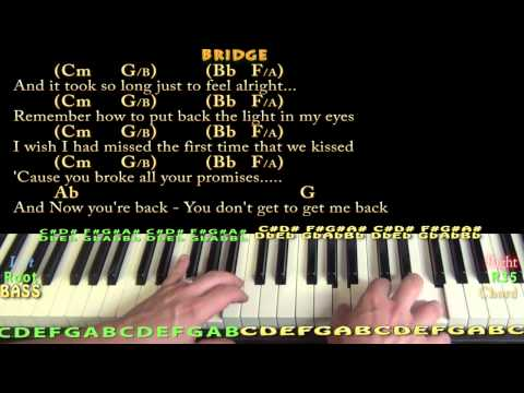 Jar of Hearts (Christina Perri) Piano Cover Lesson in Eb with Chords/Lyrics