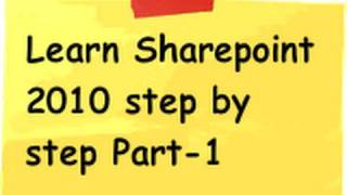 Learn sharepoint 2010 Step by Step