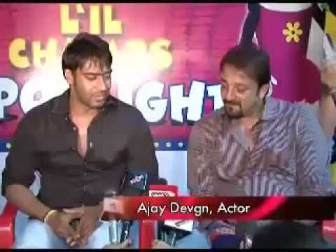Ajay Devgan, Sanjay Dutt and Zayed Khan at Saregama Lil Cham Video