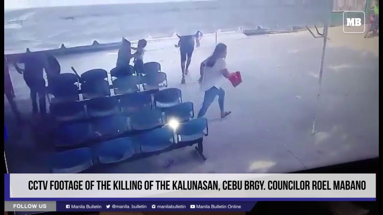 CCTV footage of the killing of the Kalunasan, Cebu Brgy. Councilor Roel Mabano