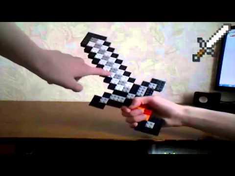 (НАС 3000!) Обзор лего железного меча из Minecraft (RUS) / Review lego iron sword Minecraft