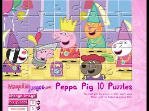 Peppa Pig Puzzles Surprise Online Free For Kids Cartoon Game