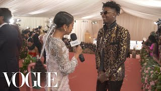 21 Savage on Attending His First Met Gala | Met Gala 2019 With Liza Koshy | Vogue