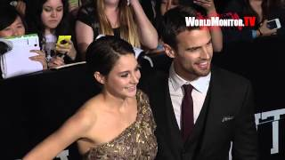 Shailene Woodley, Theo James arrive at