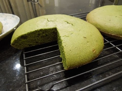 Easy Japanese Green Tea Matcha Cake Recipe
