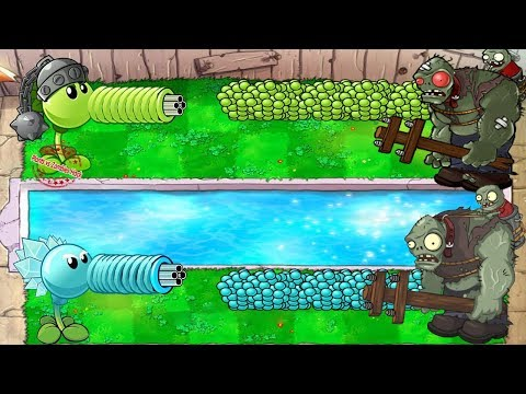 Gatling Pea vs Snow Pea vs Zomboss - Plants vs Zombies Hack