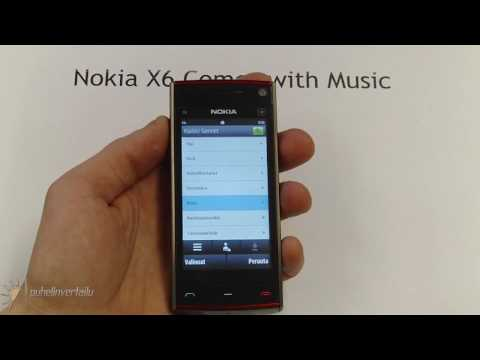 Nokia X6 - musiikki