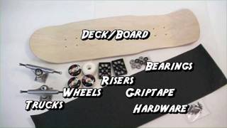 What are the parts of a skateboard? - Learn To Ride A Skateboard (Chapter 1 of 7)