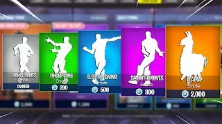 Evolution of Dances in Fortnite Battle Royale! (Season 1 - Season 6)