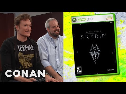 "Conan O Brien Reviews ""Skyrim"" - Clueless Gamer - CONAN on TBS"