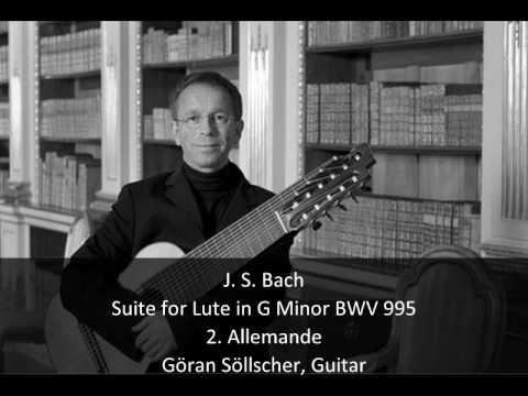 Бах Иоганн Себастьян - Lute Suite In G Minor Bwv 995 2 Allemande