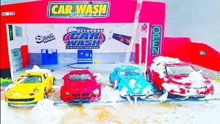 Oyuncak Arabaları oto Yıkamada yıkıyoruz - Video for kids car wash