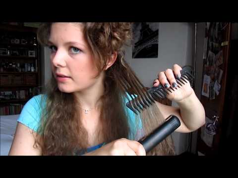 GHD IV styler REVIEW & DEMO on thick/frizzy/curly hair