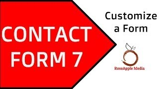 Contact Form 7 - Customize a Form