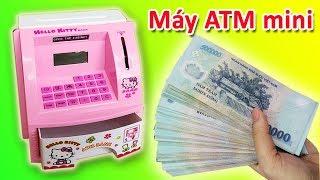 Đồ chơi MÁY ATM mini HELLO KITTY RÚT TIỀN TẠI NHÀ | KÉT SẮT ĐỰNG TIỀN CHOH BÉ (Chim Xinh)