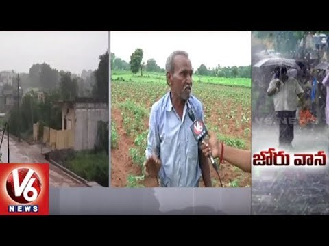 Farmers Rejoice As Heavy Rain Lashes Warangal District | Weather Report | V6 News