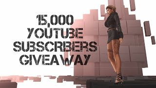 15,000 YouTube Subscribers Giveaway – Tetra in Second Life