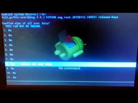 Как сделать хард ресет на wm8850