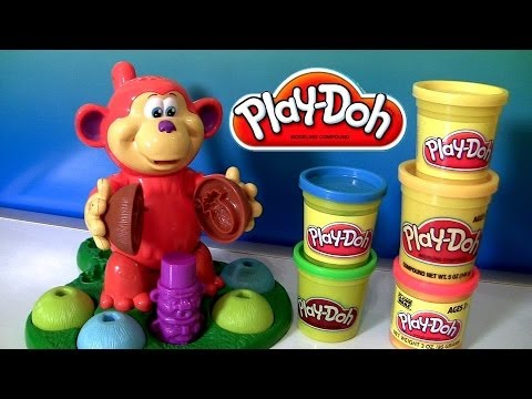 Play Doh Coco Nutty Monkey Playset Mold Fruits Bananas Play Dough Fuzzy Review With Monkey Pranks