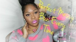 How To: High Messy Sock Bun Tutorial | Knappy Clip In Extensions KRS Hair Group