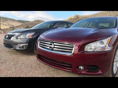 2013 Nissan Altima vs Maxima 0-60 MPH Mashup Review