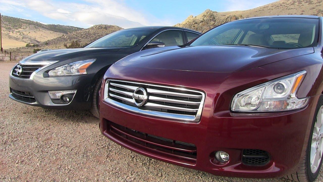 2013 Nissan Altima vs Maxima 0-60 MPH Mashup Review - YouTube