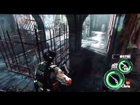 Resident Evil 5 - Lost in Nightmares DLC Co-op gameplay pt3