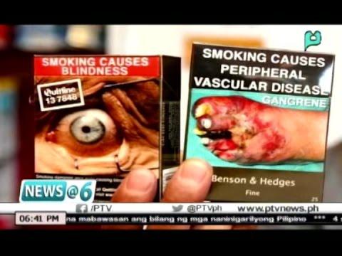 News@6: Mga pakete ng sigarilyo sa Pilipinas, lalagyan na ng 'graphic health warnings'